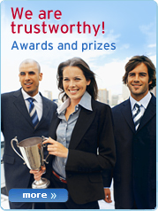 We are trustworthy! Awards and prizes